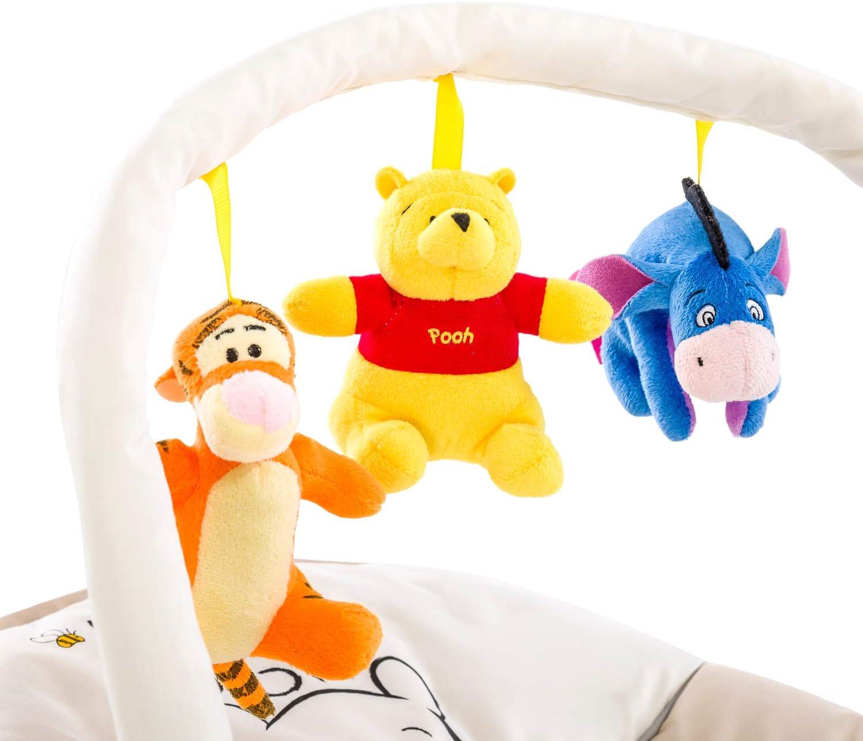 Pooh Cuddles Hauck Bungee Deluxe 633649 Hamaca Beb/és con Respaldo Ajustable Antivuelco Beige