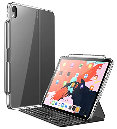 finest selection fccdf 231e7 iPad Pro 12.9 Case 2018, [Compatible with Official Smart Cover and Smart  Keyboard] i-Blason [Halo] Clear Protective Case with Pencil Holder for iPad  ...
