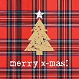 Paperproducts Design Beverage/Cocktail Napkins (Pack of 20), Tartan Christmas Tree, Multicolor