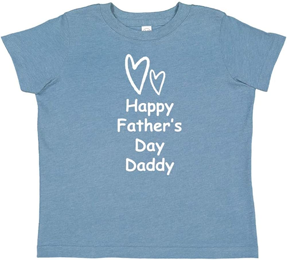 Toddler//Kids Short Sleeve T-Shirt Two Hearts Mashed Clothing Happy Fathers Day Daddy