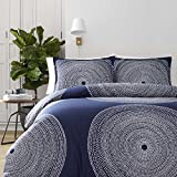 Marimekko 221440 Fokus Duvet Cover Set, Full/Queen, Navy