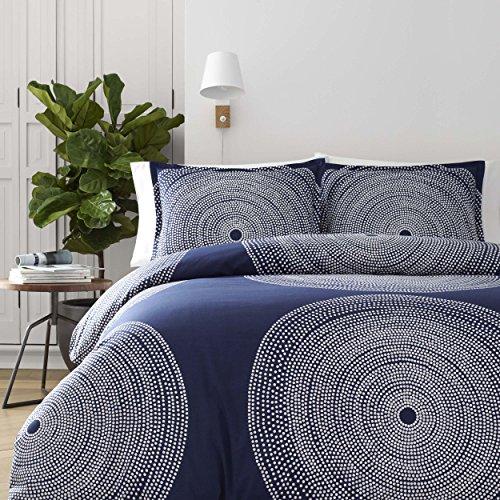 Marimekko 221438 Fokus Comforter Set, Navy, King