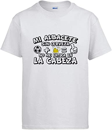 Camiseta Mi Albacete sin Cerveza no me entra en la Cabeza: Amazon.es: Ropa y accesorios