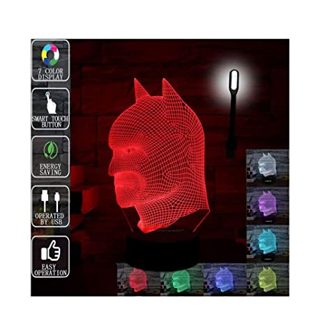 Amazon Com Gift Ideas Batman Night Lights 3d Illusion Lamp Animal