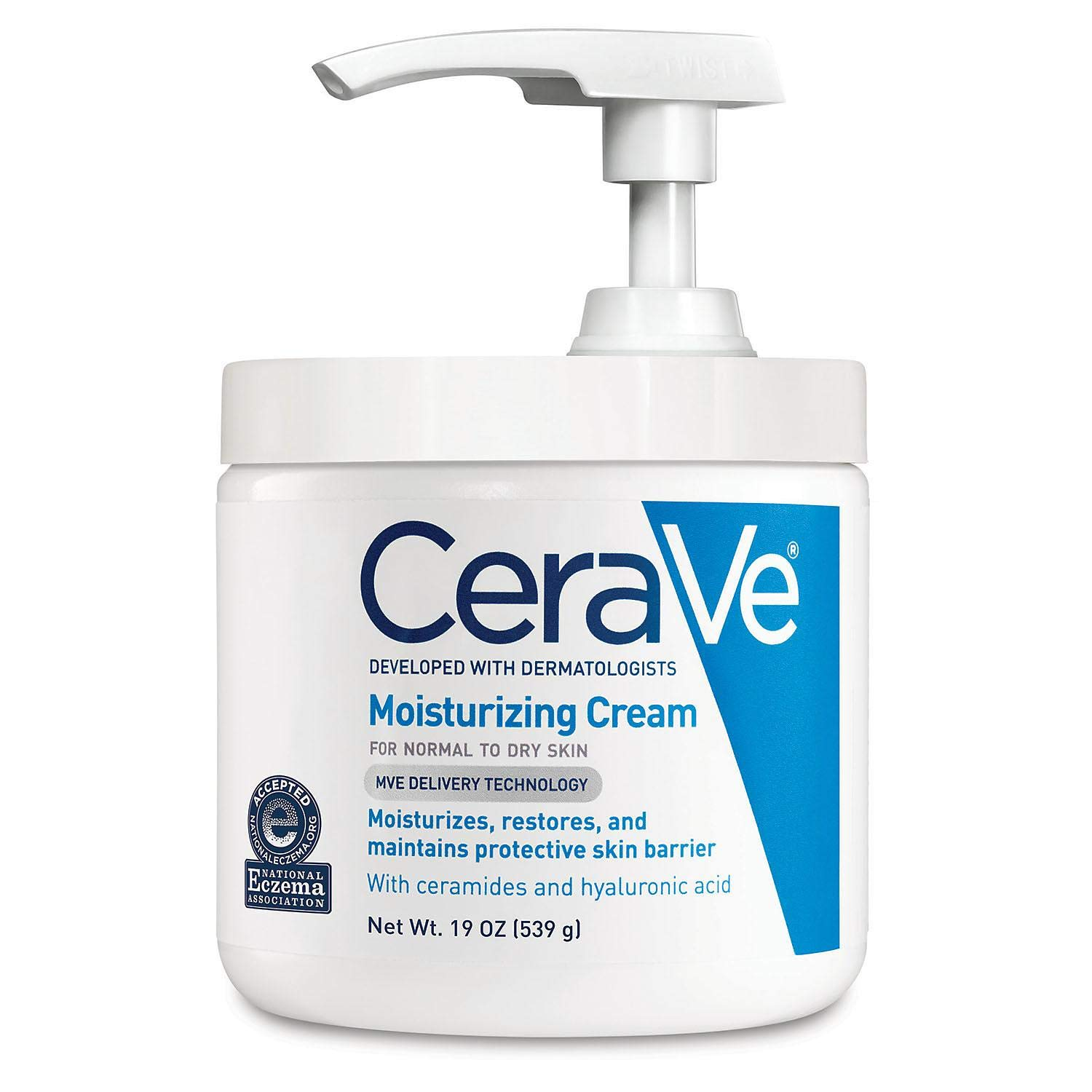 CeraVe Moisturizing Cream with Pump 16 oz (Pack of 2)