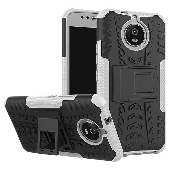 wholesale dealer 4d285 b0895 Amazon.com: Moto G5S Case, Moto G5S Hybrid Case, Dual Layer ...