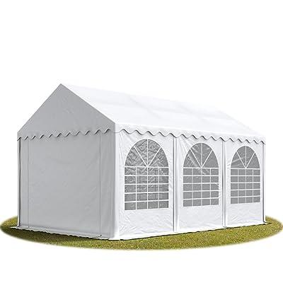 Tente de réception 4x6 m - anti-feu H. 2,6m blanc PVC 550g/m² pavillon 100% imperméable