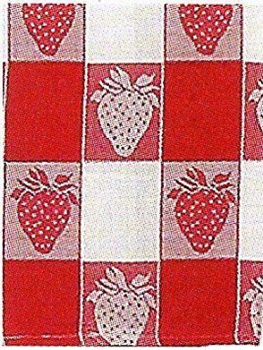 100% Cotton Red & White 20