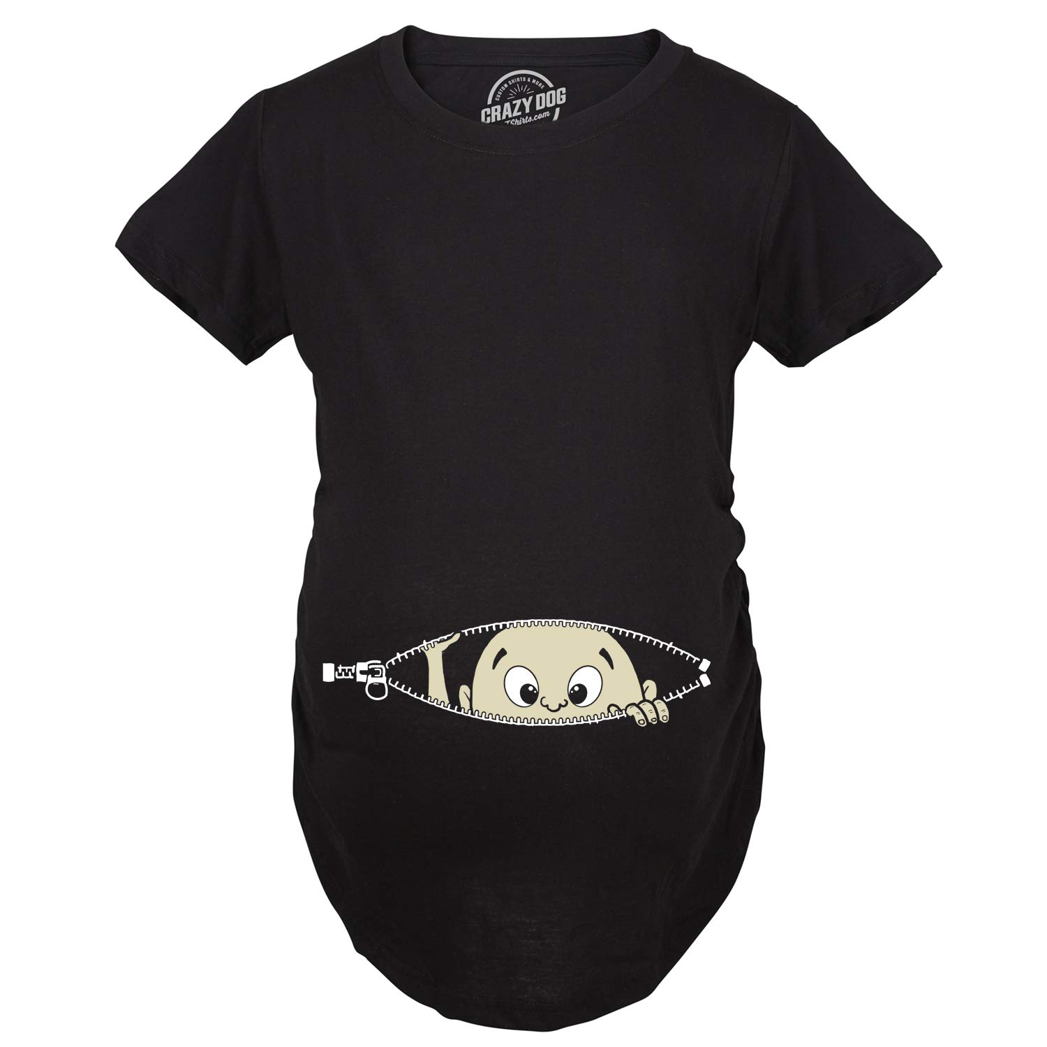 d0a4ce7960c93 Maternity Baby Peeking T Shirt Funny Pregnancy Tee for Expecting Mothers:  Amazon.co.uk: Clothing