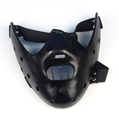 Gmasking Resin Hannibal Lecter Mask Replica(Black)+Gmask Keychain: Toys & Games
