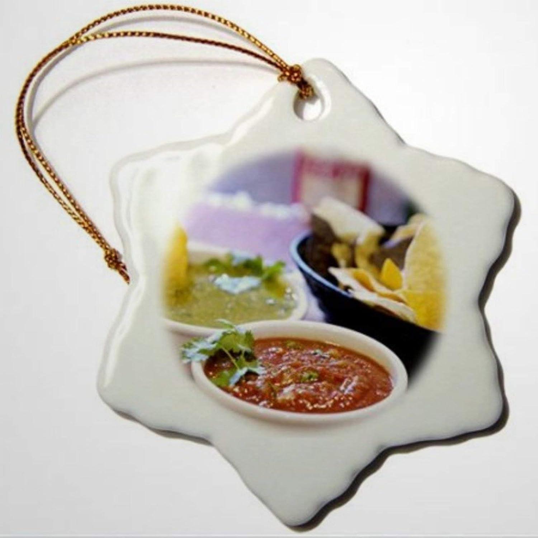 BYRON HOYLE Tomatillo Mexican Cuisine Destin Fl Fvi Franklin Viola Snowflake Ornament Porcelain Christmas Ornaments Pandemic Xmas Decor Wedding Ornament Holiday Present