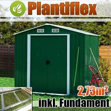 Casa de metal dispositivo 210 x 130 Jardín Caseta Invernadero Jardín Casa Caseta, verde: Amazon.es: Jardín