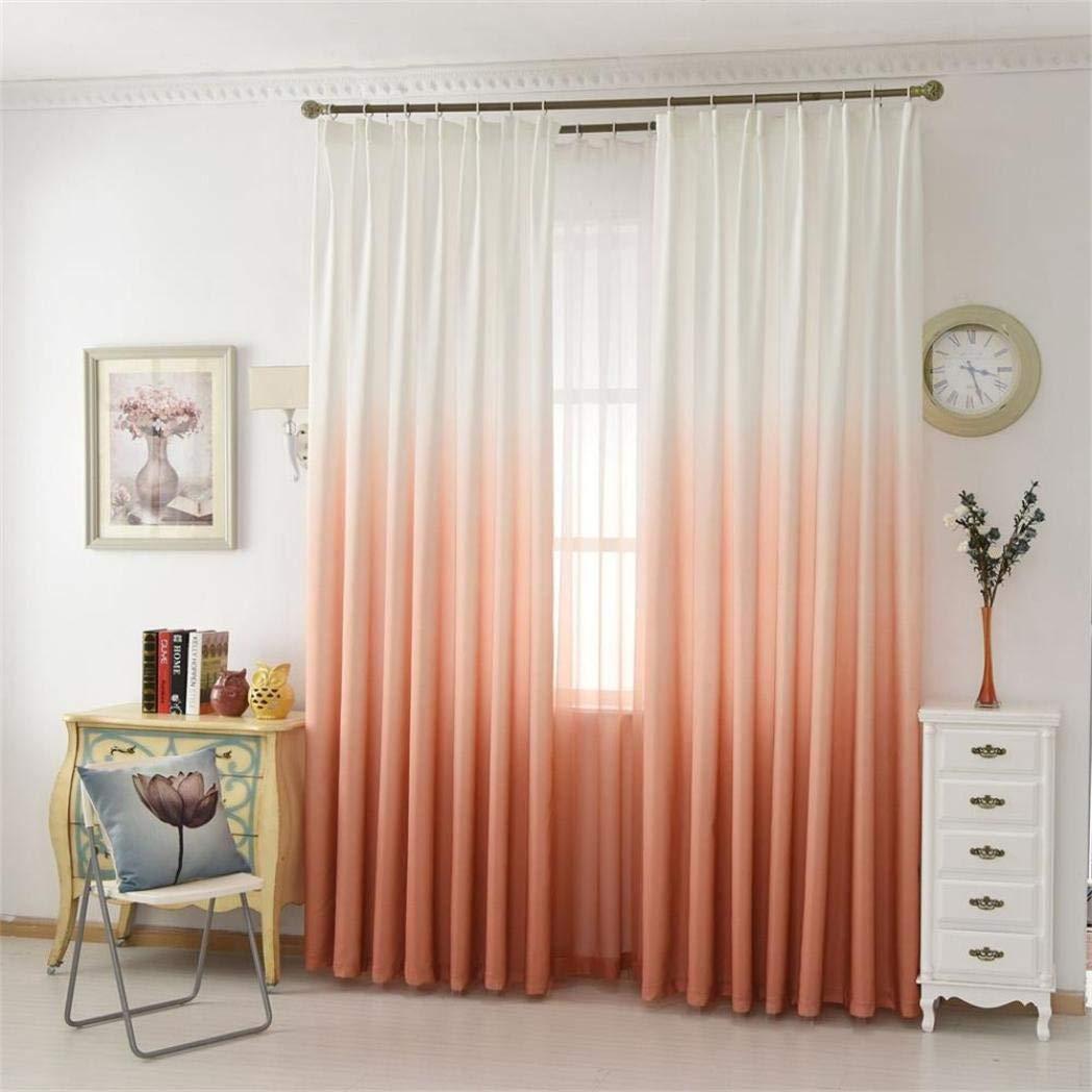 MMLsure Rideau de Porte en Voile Transparent avec œ illets de dé coration pour Oeillets 100 x 200 cm Orange MMLsure®