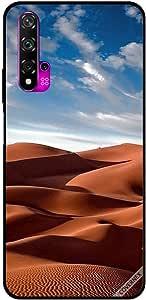 حافظة لهاتف هواوي نوفا 5T بصورة الصحراء والغيوم في سماء زرقاء