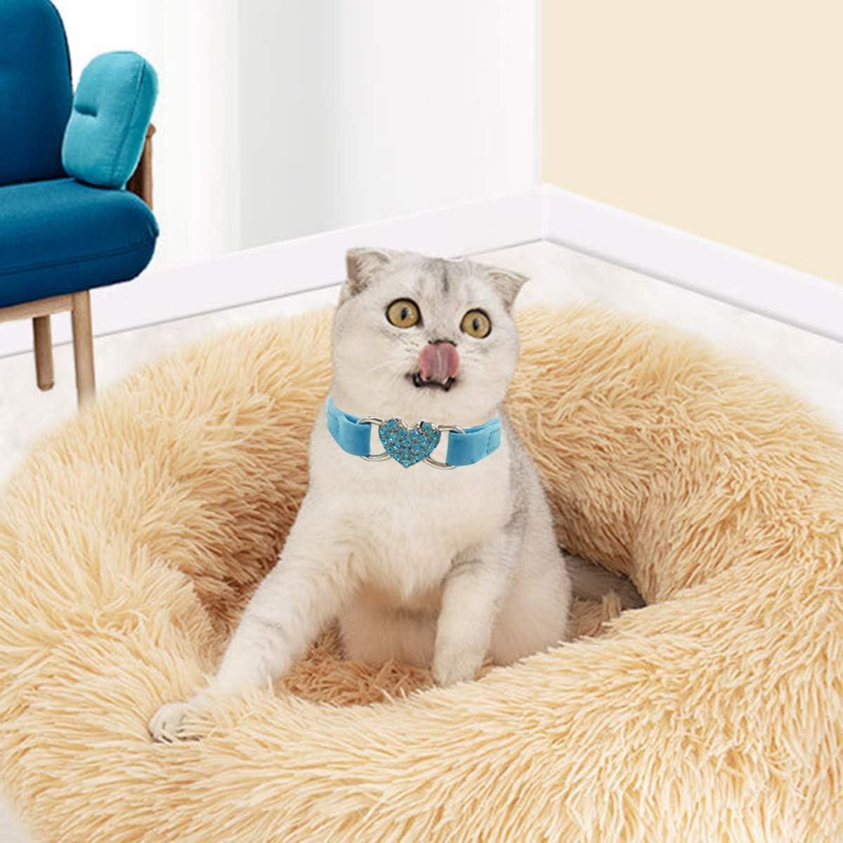 Pet Supplies Tabpole Cat Collar Heart Bling Adjustable Collar for ...