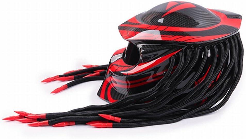 GUO Casque de Personnalit/é de Moto Predator Warrior Carbon Fiber Helmet