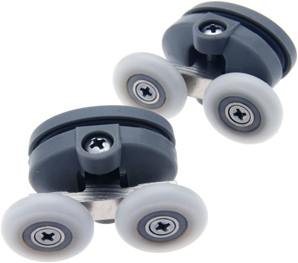 Par de mariposa Twin Top para mampara de ducha rodillos ruedas ...