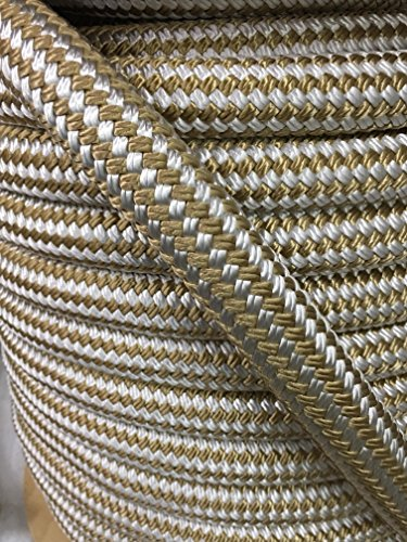 Gold Double Braid Nylon Rope 1 inch (50 feet)