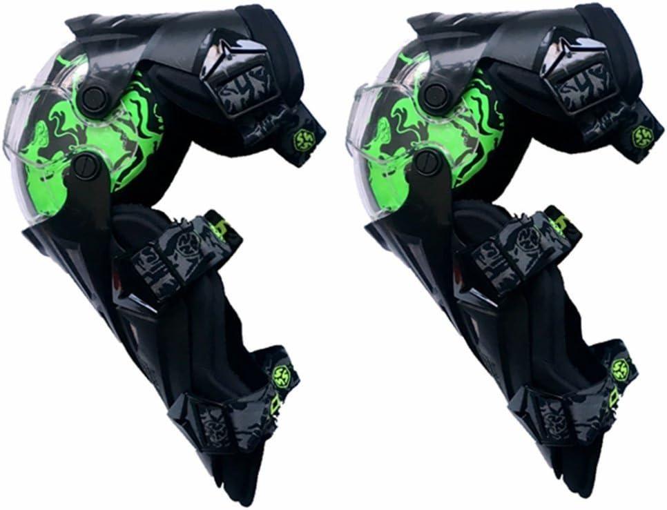 調節可能な 膝パッド、調整可能なロングレッグスリーブギアクラッシュプルーフアンチスリップオートバイマウンテンバイク1ペアのための保護警備員 (色 : 緑)