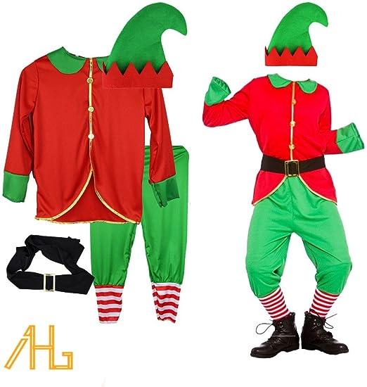 Disfraz de elfo – Disfraz de duende De Papá Noel, para niños, tela ...