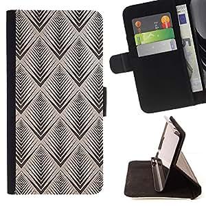 For Sony Xperia M2 Case , Patrón Vignette Retro Wallpaper- la tarjeta de Crédito Slots PU Funda de cuero Monedero caso cubierta de piel