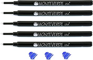 2 x Parker Compatible Fine Rollerball Refill by Monteverde 3 Colours Available