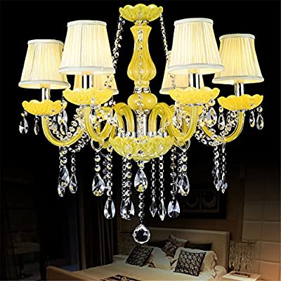 11066a7f9d Modern Yellow Crystal Chandelier for Dining Room Living Room Hotel ...