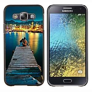 """Be-Star Único Patrón Plástico Duro Fundas Cover Cubre Hard Case Cover Para Samsung Galaxy E5 / SM-E500 ( El amor por el mar"""" )"""
