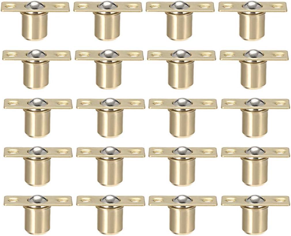 uxcell Door Cabinet Closet Drawer 16.5mm Shaft Dia Brass Ball Catch Latch Catcher 5 Sets