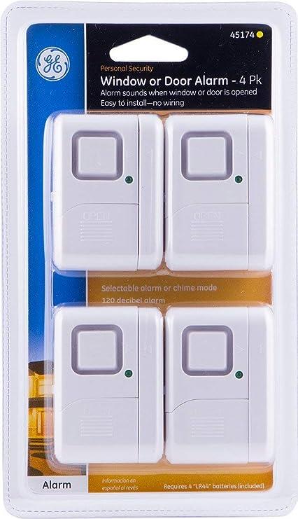 Amazon.com: GE Personal Security Window/Door Alarm, 4-Pack, DIY Home Protection, Burglar Alert, Wireless Alarm, Off/Chime/Alarm, Easy Installation, ...