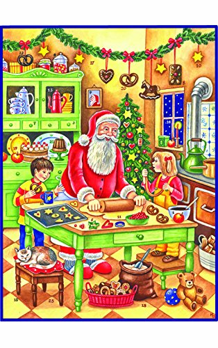 "Alexander Taron Importer ADV70110 - Sellmer Advent - Large Baking Santa - 14.5"""" H x 11"""" W x .1"""" D"