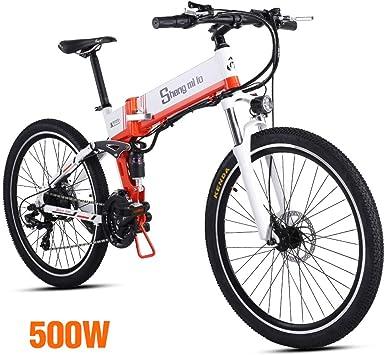 Shengmilo 500W Motor Bicicleta Eléctrica Plegable,Shimano 21 Speed ...