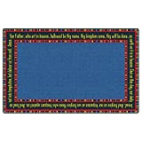 Flagship Carpet Children Learning Floor Playmat Nylon The Lord'S Prayer - 4' x 6'