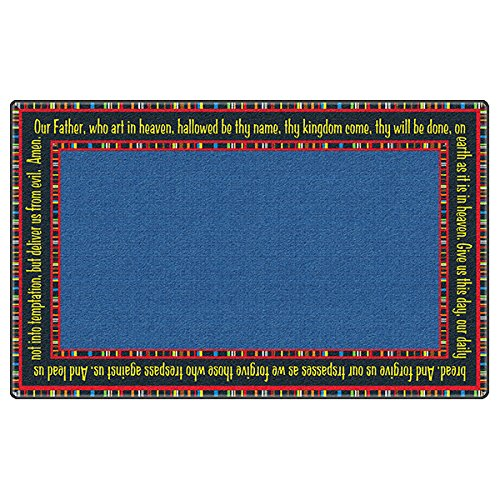 Flagship Carpet Children Learning Floor Playmat Nylon The Lord'S Prayer - 4' x 6' by Flagship Carpets