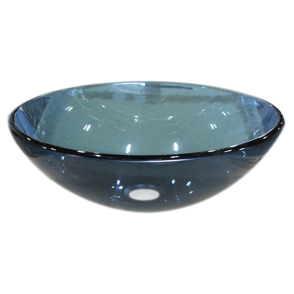 HASTINGS SFERO-FB-BLU Frosted Glass 16-1/2 Round Vessel Bath/Lavatory Sink Blue by Hastings