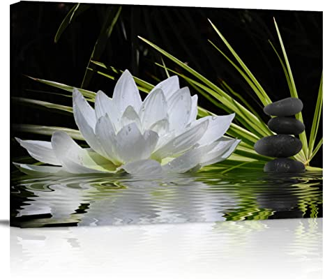 Canvas Picture-Zen Stones-Black White