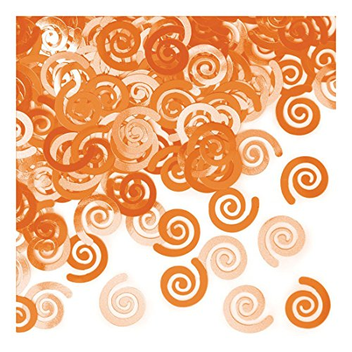 Creative Converting Confetti Swirls Orange product image