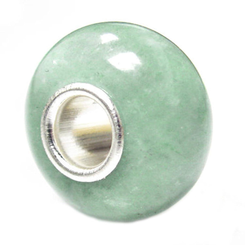 Queen Berry Clip de perla colgante plata de ley jade piedra Bead