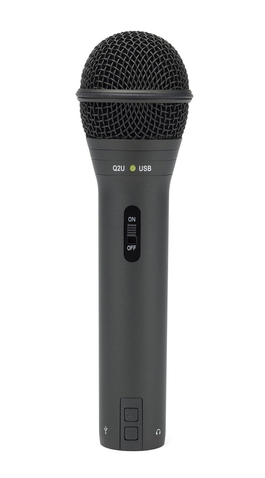 Samson Q2U Handheld Dynamic USB Microphone Recording and Podcasting Pack (Black)