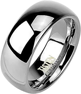 Paula & Fritz® Anello Tisten Titanio Wolfram argento 8mm larghezza Acciaio Anello disponibile anello misure 47(15)–72(23) R TS 001–8