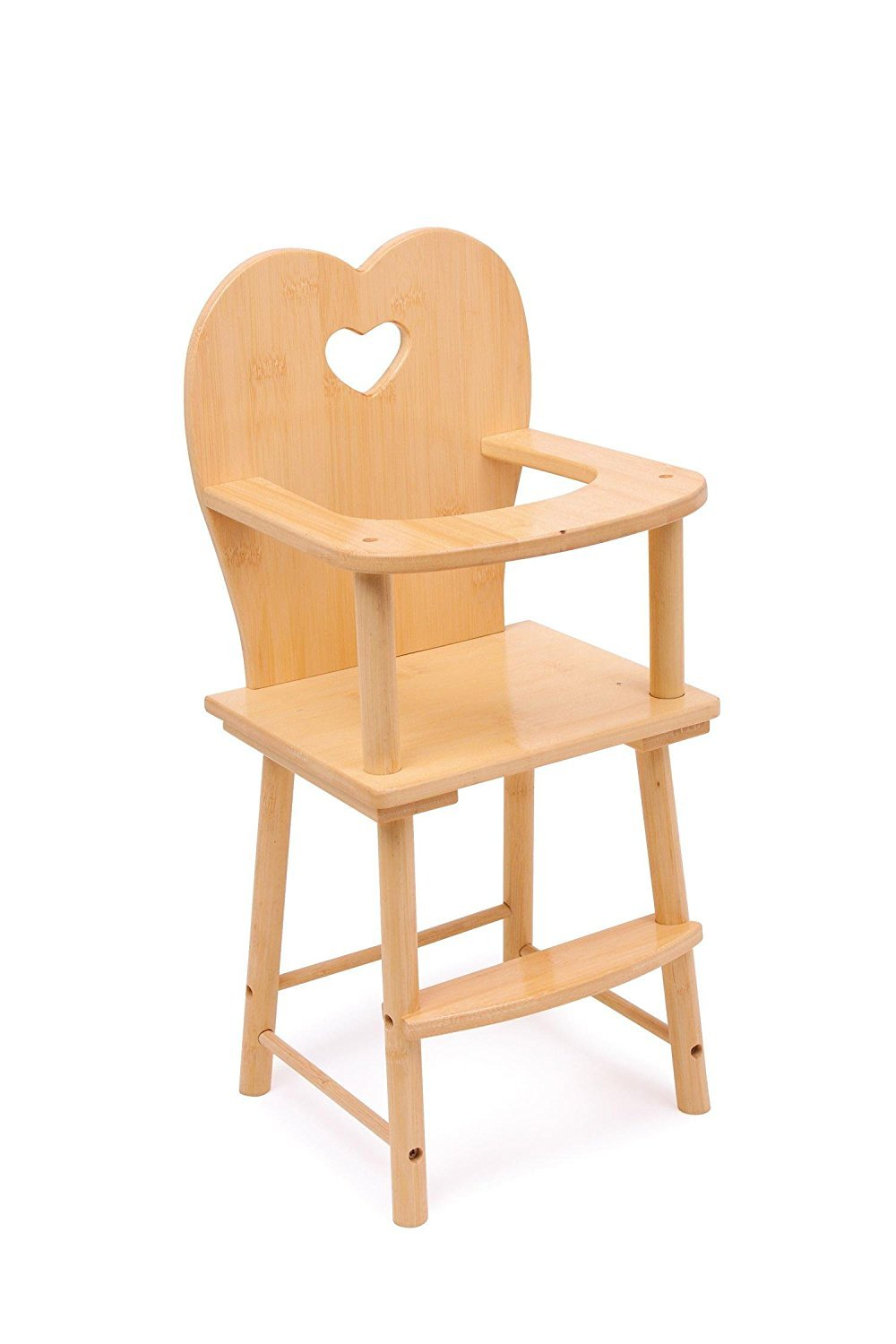 Reducción de precio Solid Wooden Dolls Feeding High Chair - Girls Toy
