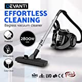 2800W Bagless Cyclone Cyclonic Vacuum Cleaner HEPA Filtration System Black
