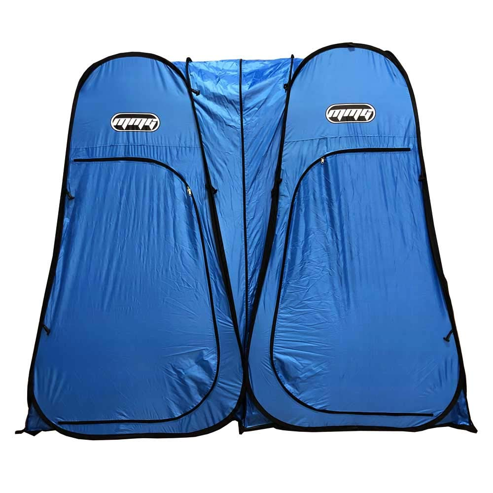 MMG Double Tent, Lightweight Instant Pop Up Design use as Dressing Room, Fishing Shade, Private Shower, Beach or Camping shelter, Indoor or Outdoor, 7 feet Height, Foldable, Bag Included, Blue by MMG