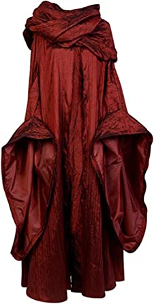 COSplay Game of Thrones Red Woman Dress Gown Outfit Melisandre Costume Halloween
