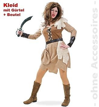 Fries Damen Kostum Barbarin Wikingerin Karneval Fasching Gr 36