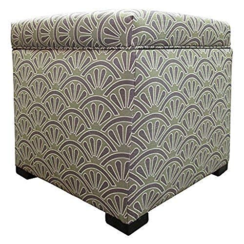 - Sole Designs Bonjour Themed Series Tami Collection Dijon Finish Upholstered Bedroom Lift Top Storage Ottoman