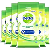 Dettol Multi-Purpose Antibacterial Disinfectant Surface Cleaning Wipes Crisp Apple 720 count, Pack of 6