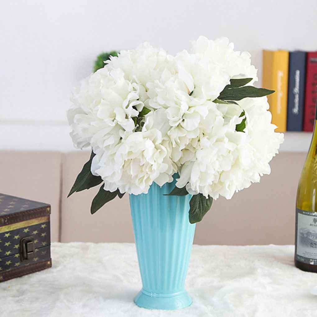 Busirde Artificielle Pivoine Bouquet Soie Fleurs artificielles ré el comme Le Mariage Home Dé cor Vert