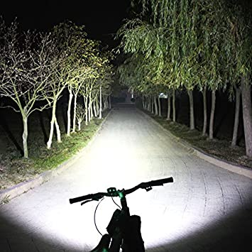 Amazon.com : (One Day Sales!) Rechargeable 10000lm 3X XM-L T6 LED Front Bicycle Light Bike Headlamp Headlight Waterproof Cycling Camping Fishing Hiking ...