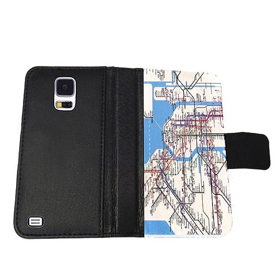 New York Subway Map Wallet.New York Subway Map Samsung Galaxy S5 Wallet Case